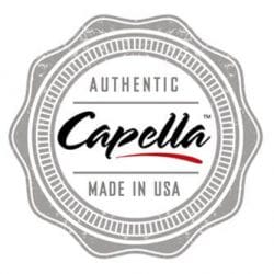 An image showing the authentic Capella flavors stamp style logo