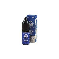 An image showing a bottle and the box of Anarchist blue nicotine salt e liquid