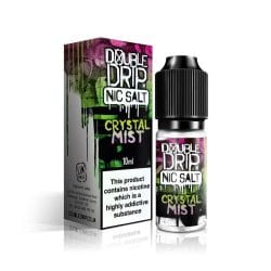 A picture showing a bottle ofDouble Drip Crystal Mist Nicotine Salt e liquid