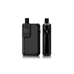 An image showing the front and side of a black Augvape Narada Pro Pod Kit