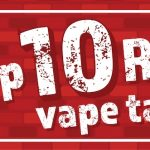 A banner image for the Top 10 Best RTA Vape Tanks Of 2021 In The UK blog post, featuring 3 example RTA Vape Tanks