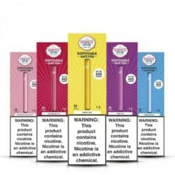 An image showing 5 of the different Dinner Lady disposable vape flavours on the Best Disposable Vape Kits To Buy in 2021 blog article by Vapour Depot
